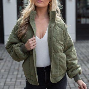 NWT Blank NYC Roger That Quilted Puffer Jacket